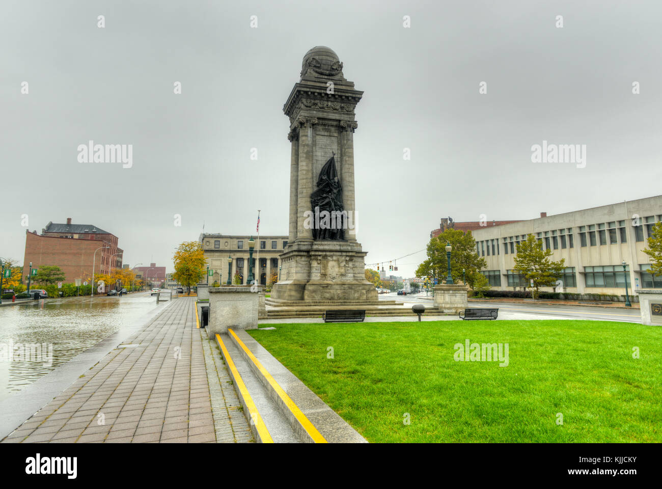 Soldiers and Sailors Monument on Clinton Square in Syracuse, NY - Stock Image