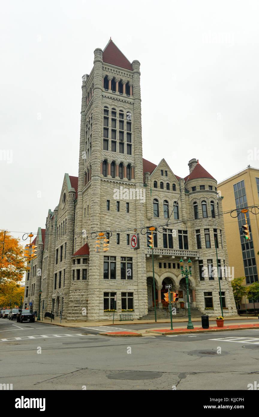 The Syracuse City Hall. It the city hall of Syracuse, New York. The Syracuse City Hall is the city hall of Syracuse, Stock Photo