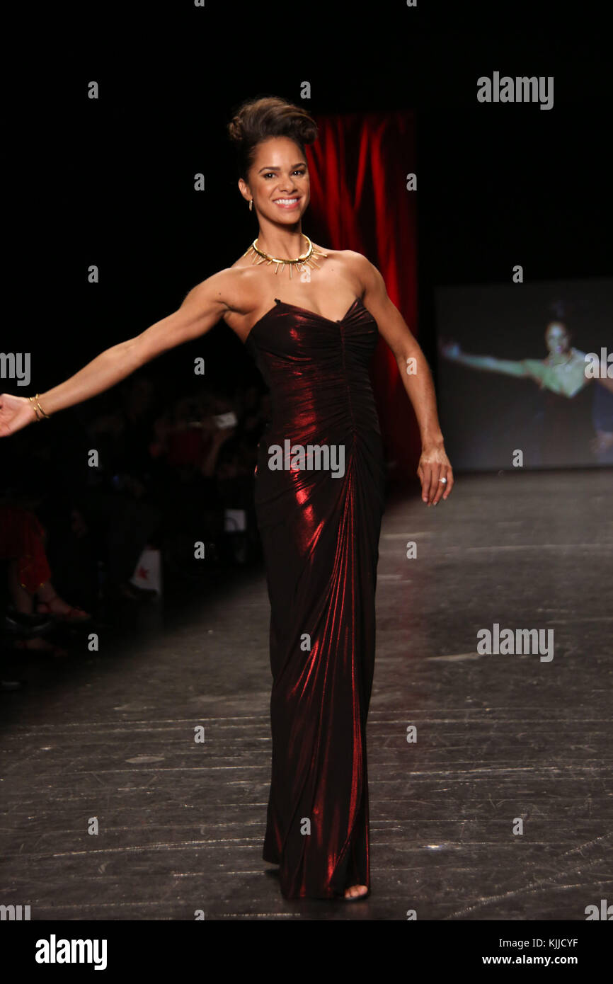NEW YORK, NY - FEBRUARY 11: MISTY COPELAND  walks the runway at The American Heart Association's Go Red For - Stock Image
