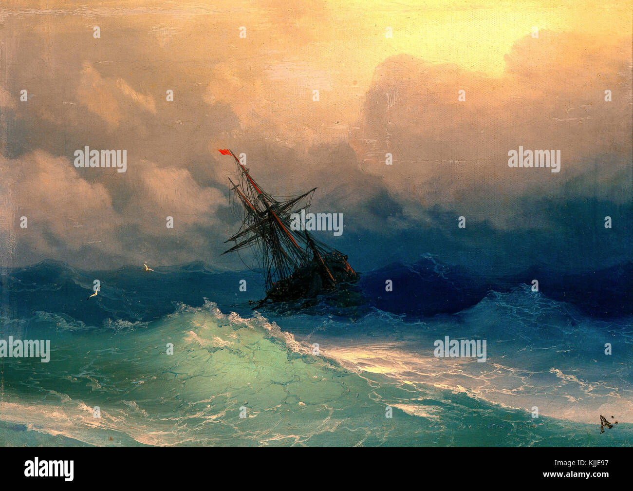 Painting A Rainbow by Aivazovsky: a new palette of the sea landscape