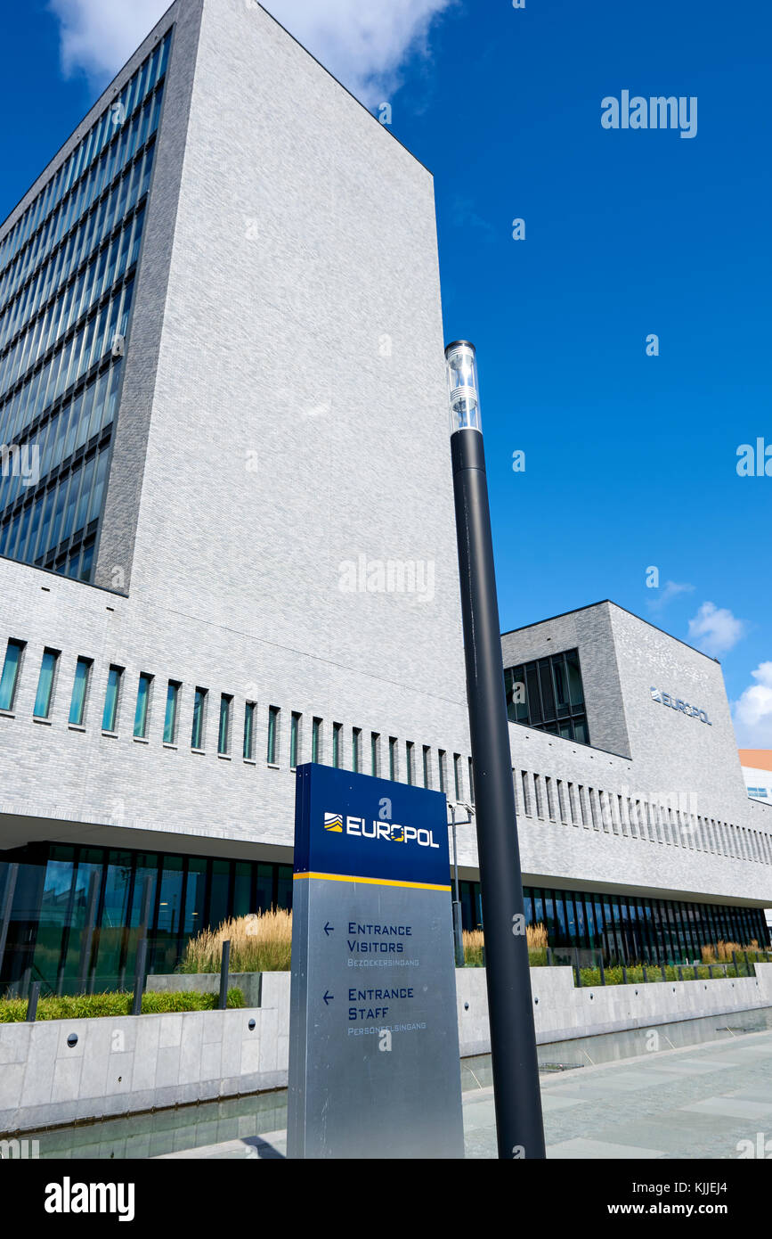 The office of Europol in The Hague, Netherlands. The law enforcement agency of the European Union Stock Photo
