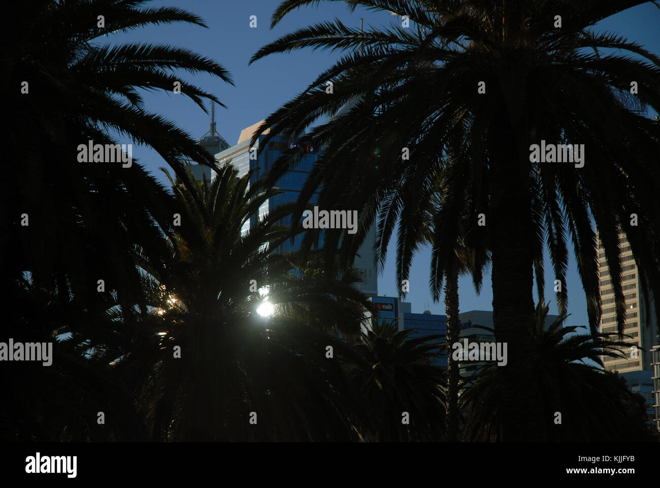 Langley Park, Perth, Australia. - Stock Image
