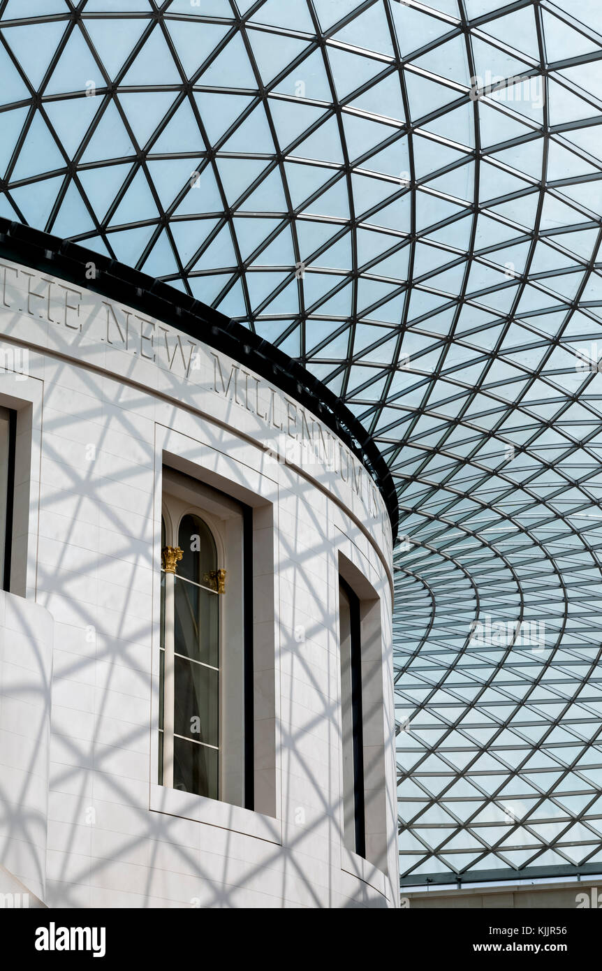 GREAT COURT (1994)   NORMAN FOSTER         BRITISH MUSEUM          LONDON           UNITED KINGDOM - Stock Image