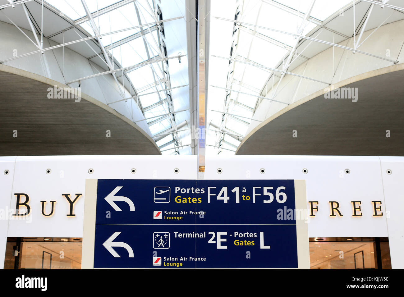 Charles de Gaulle airport. Duty Free.  Roissy. France. - Stock Image