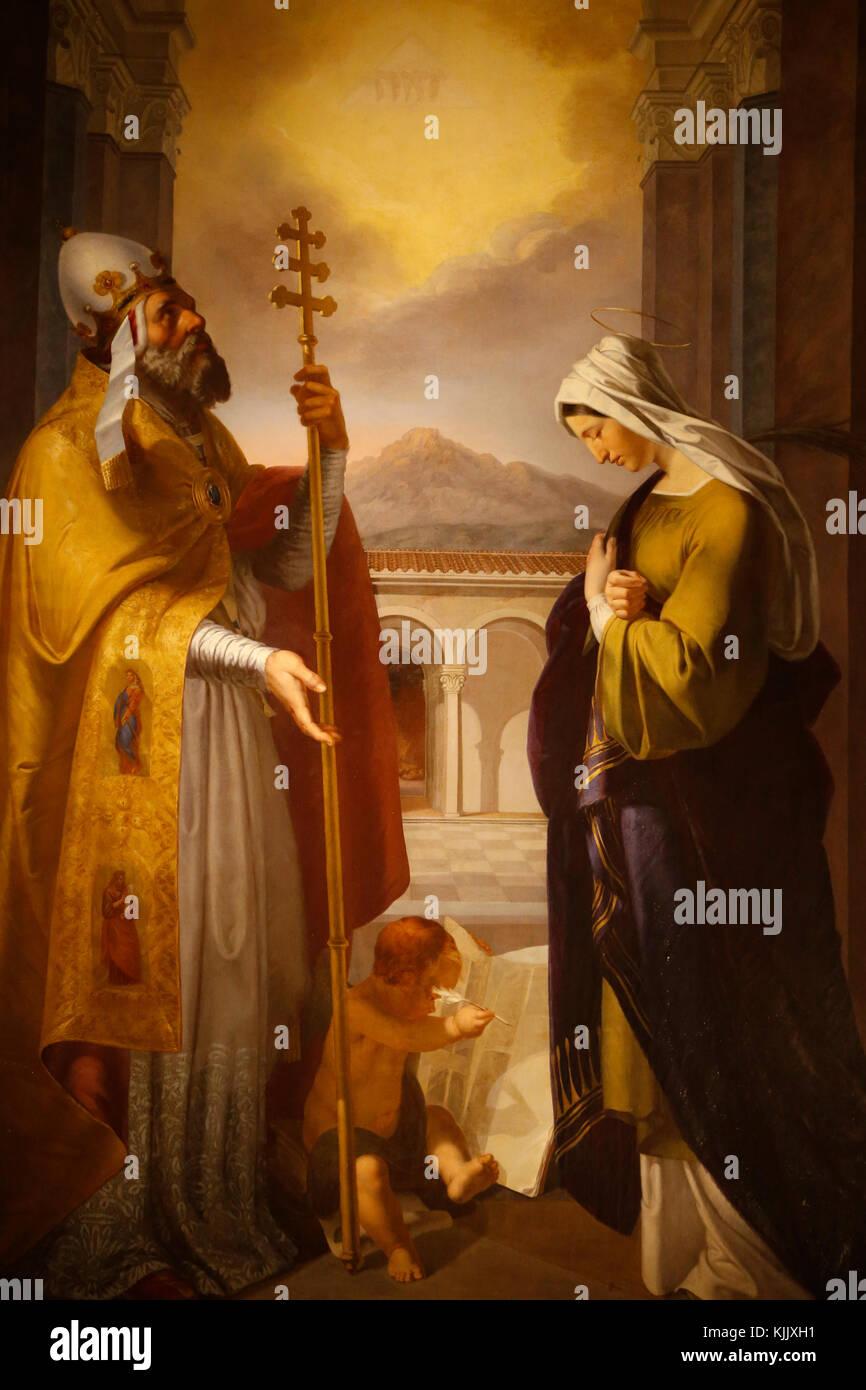Painting in Santo Spirito in Sassia's church, Rome. Italy. Stock Photo