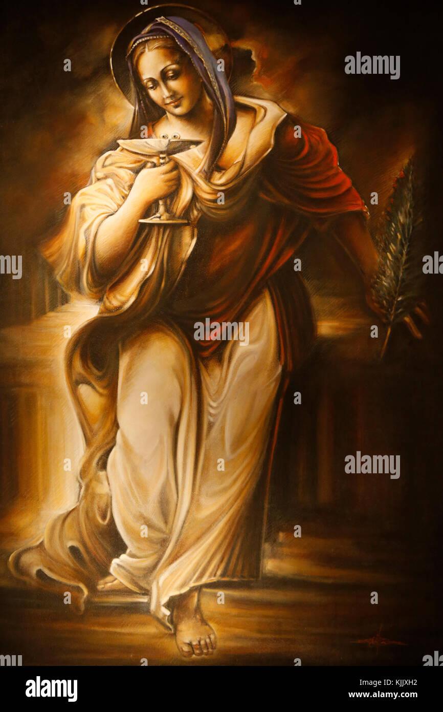 Painting in Santo Spirito in Sassia's church, Rome. Italy. - Stock Image