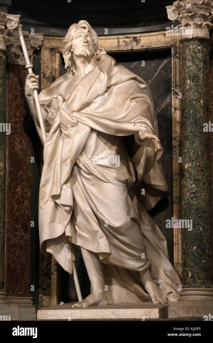 St John in Laterano's church, Rome. St James statue. Italy. Stock Photo