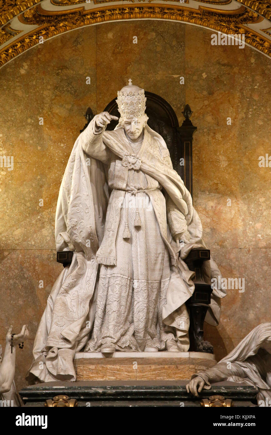 Detail of pope Leon XIII monument in St John in Laterano's church, Rome. Italy. - Stock Image