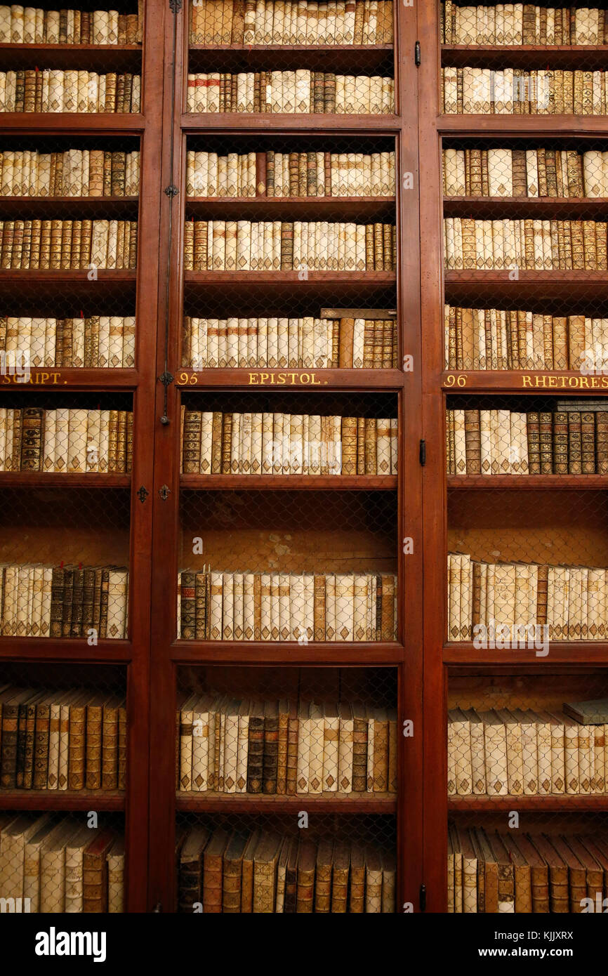 Corsini gallery, Rome. Library. Italy. - Stock Image