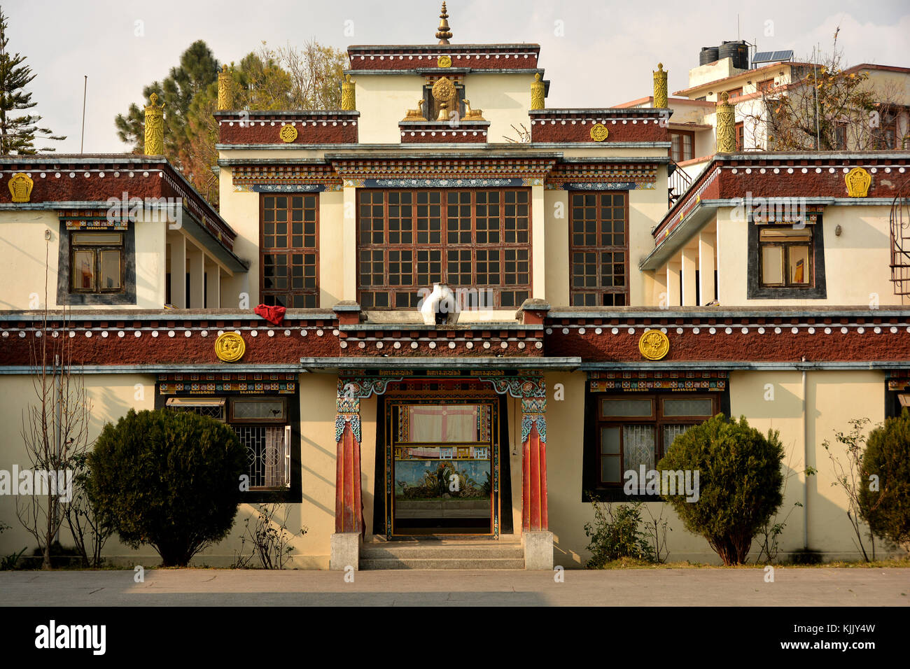 Jamgon Kongtrul monasteryd on Pullahari hill in Bodnath.  Nepal. Stock Photo