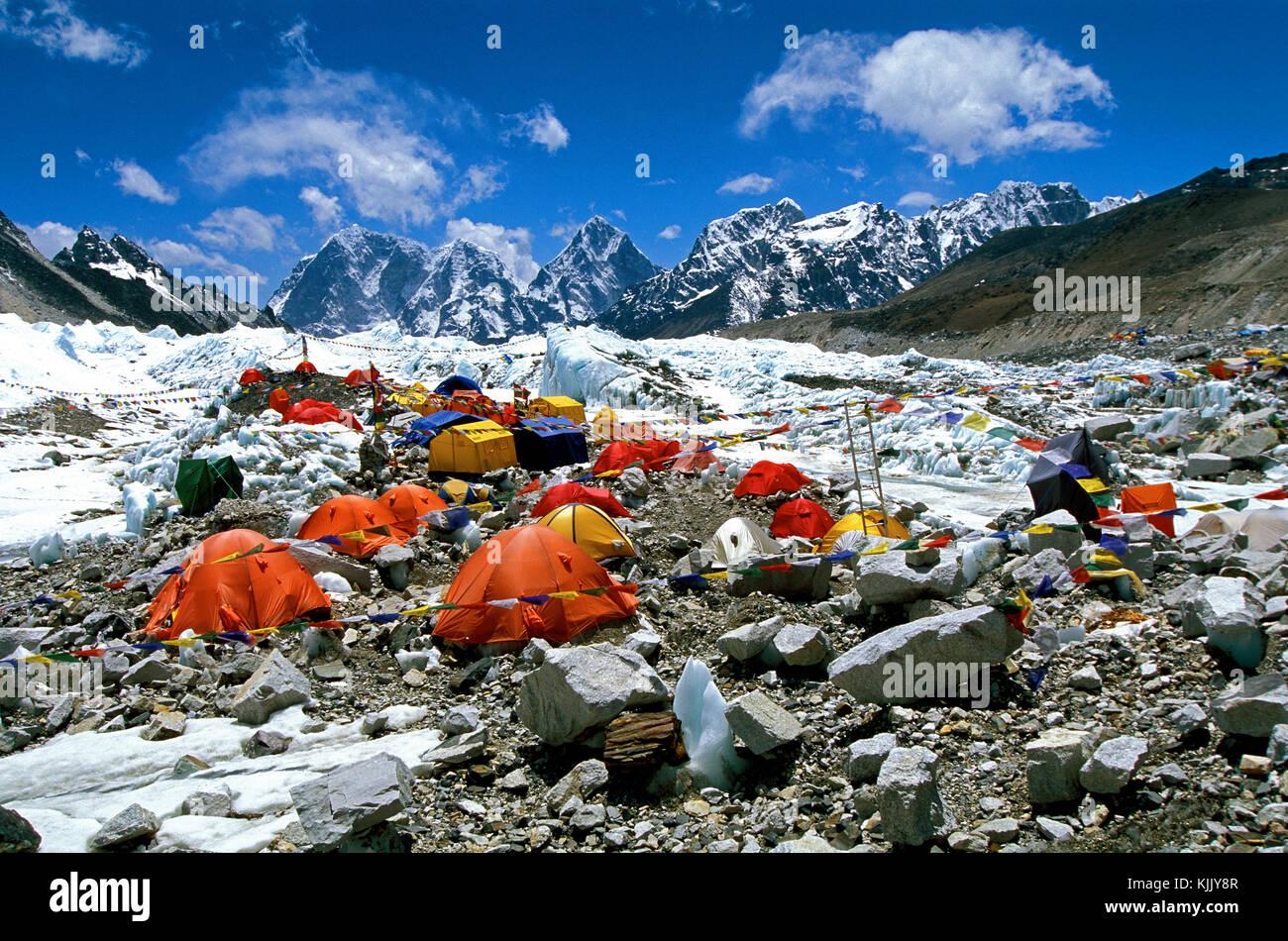Everest base camp. Solu Khumbu. Nepal. - Stock Image