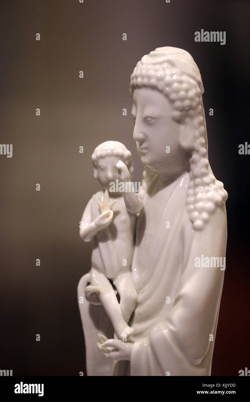 Asian Civlisations Museum.  Christianity in Asia: Sacred Art and Visual Splendour.  Virgin and Child ( inspired - Stock Image