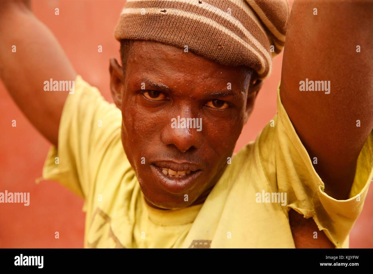Worker. Senegal. - Stock Image
