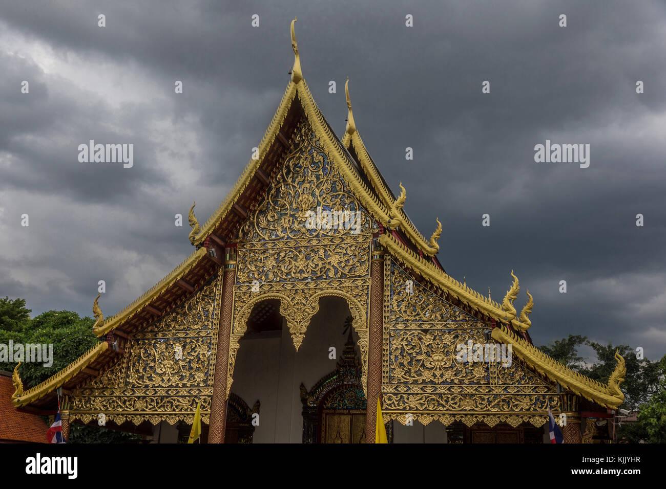 Wat Chiang Mun, Chiang Mai. Thailand. Thailand. - Stock Image