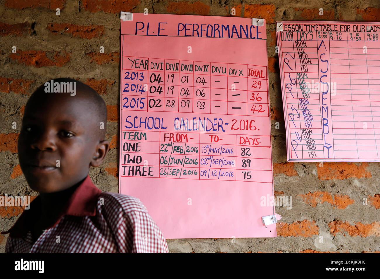 Ugandan school. Uganda - Stock Image