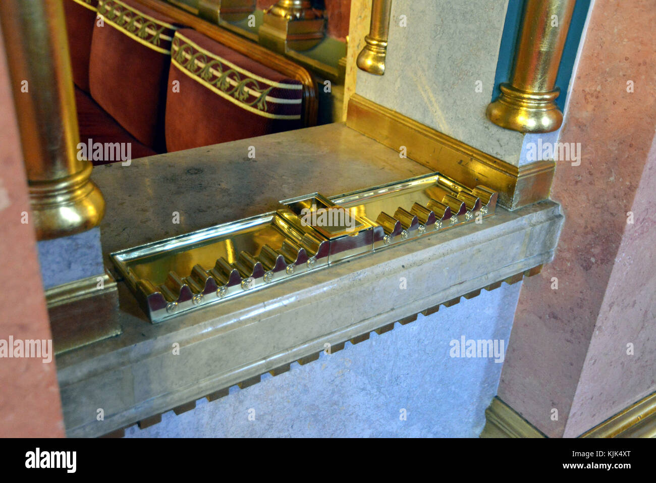 Europe, Hungary, Budapest, Hungarian Parliament Interior Cigar holder from a bygone era - Stock Image