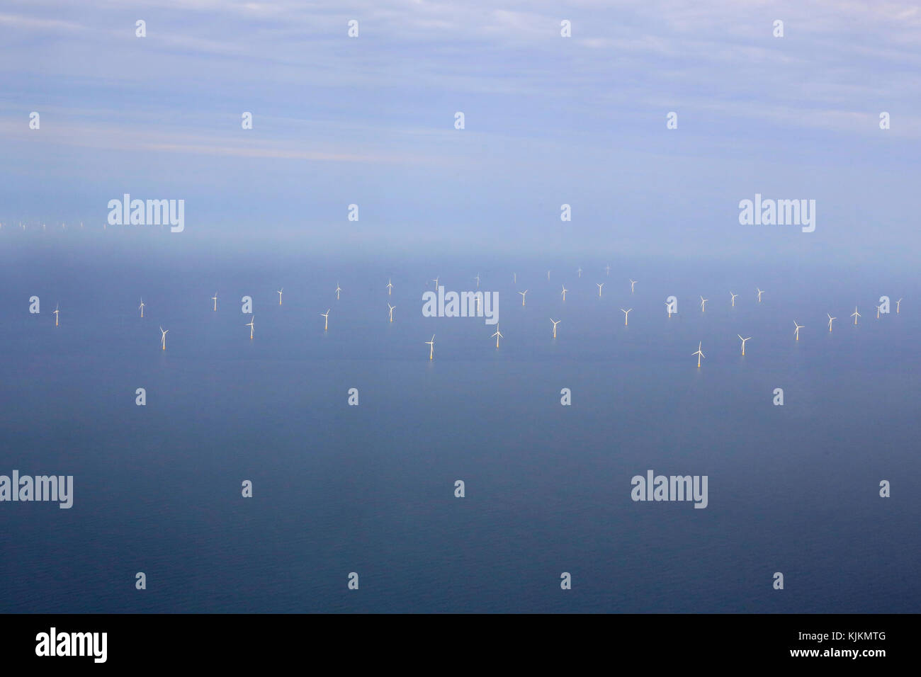 Off shore wind turbines. - Stock Image