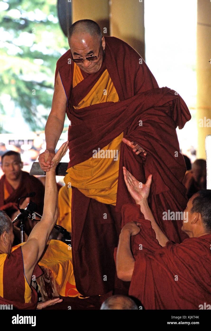 The Dalai Lama in Mac Leod Ganj. India. - Stock Image