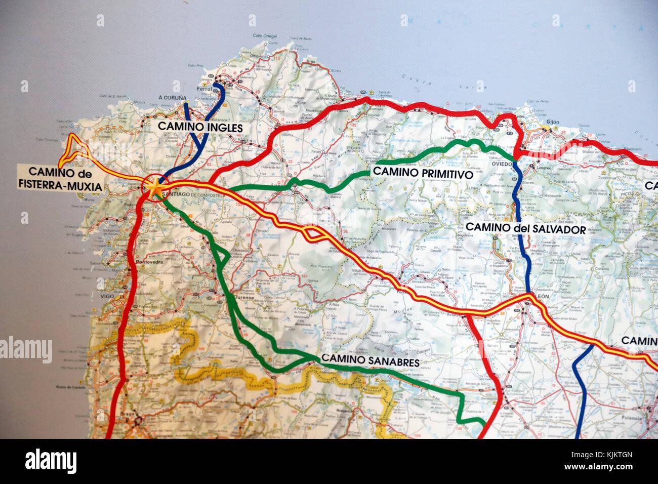 Route of Santiago de Compostela.  France. - Stock Image