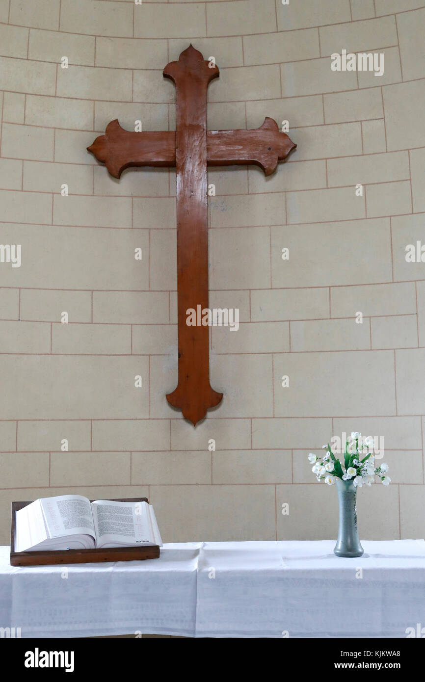 Protestant church.   France. - Stock Image