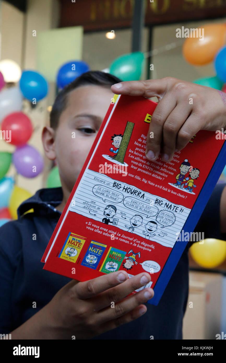 10 Year Old Boy Receiving A Birthday Present France