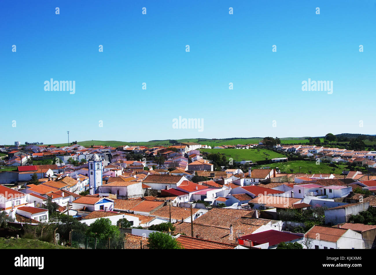 landscape of Messejana village,Alentejo,Portugal Stock Photo