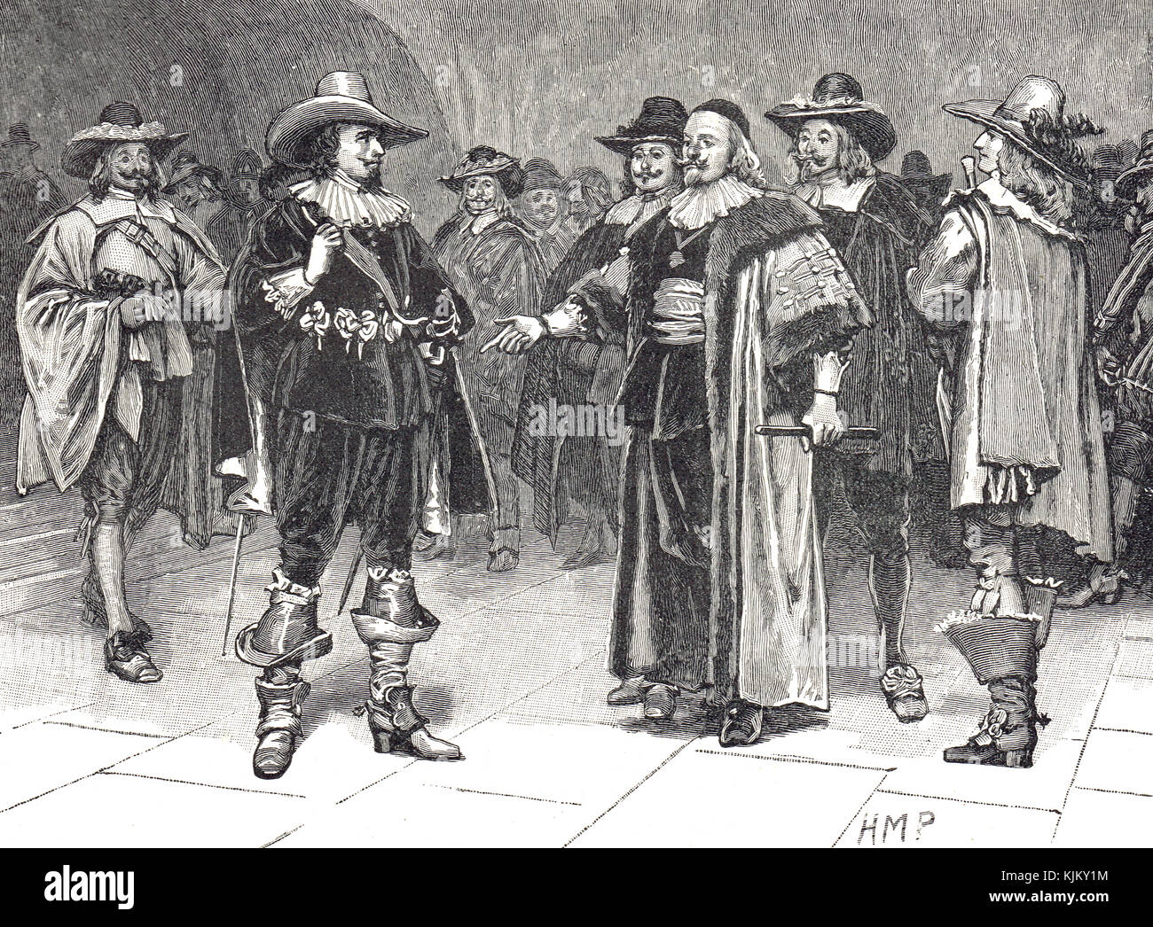 Arrest of Thomas Wentworth, the Earl of Strafford, 11 November 1640 - Stock Image