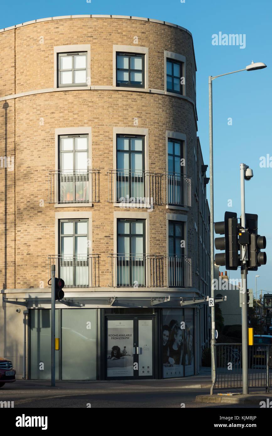 Student accommodation on the corner of Histon and Huntingdon roads. Cambridge. UK. - Stock Image