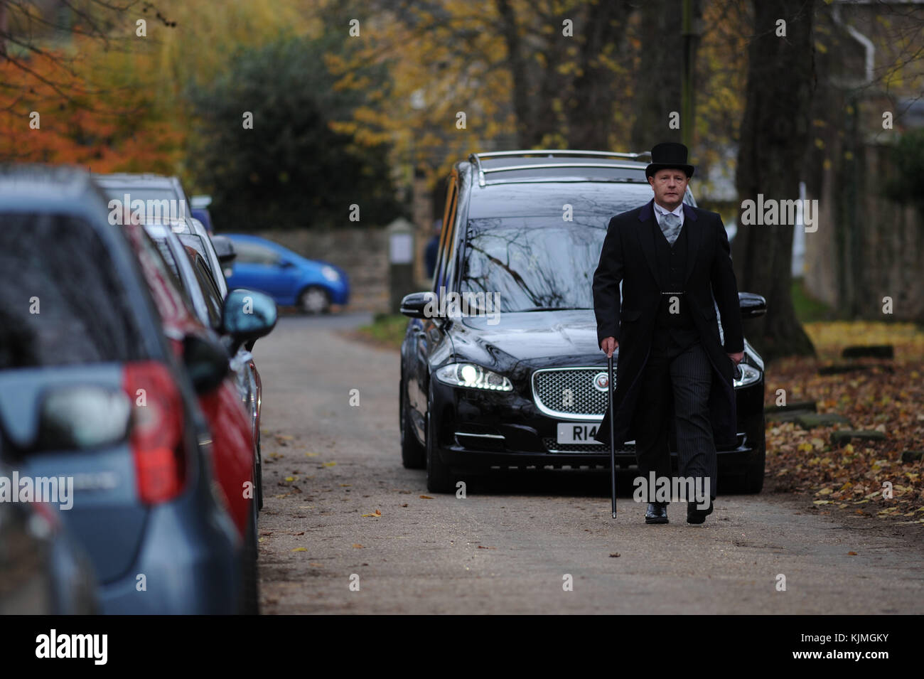 Bobby Knutt funeral at Wentworth Church, near Rotherham, South Yorkshire, UK. Stock Photo