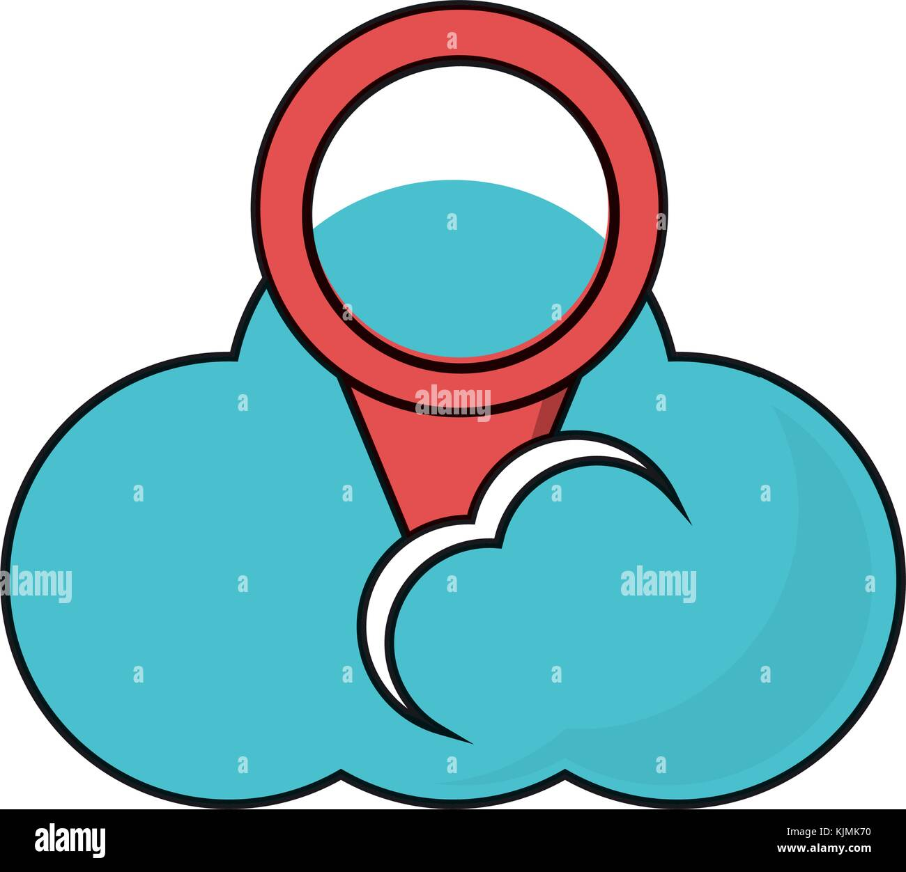 cloud storage design concept - Stock Image