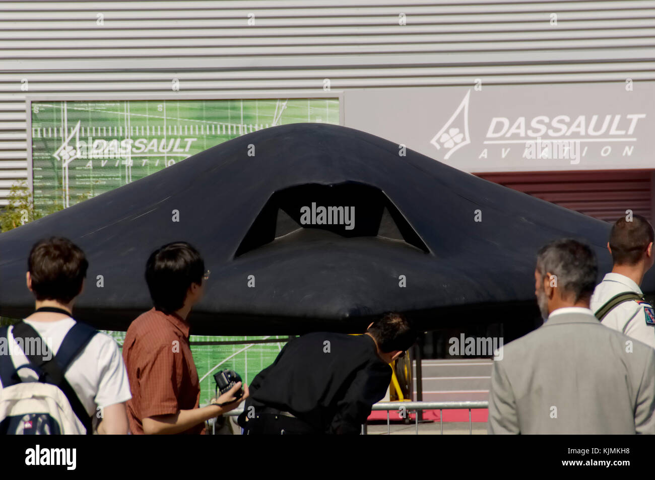 UAV in static-display at the 2005 Paris AirShow, Salon-du-Bourget - Stock Image