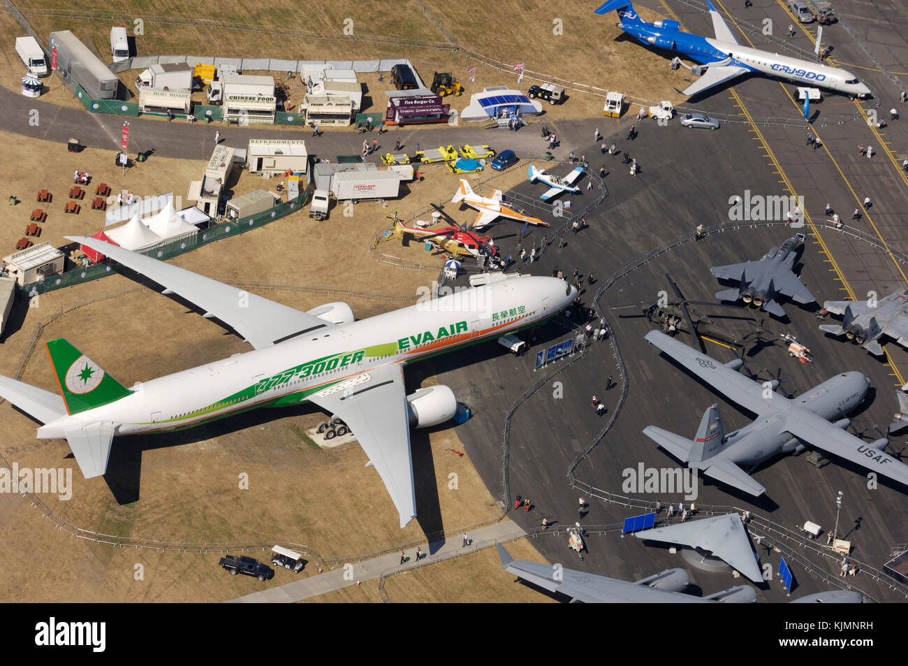 EVA Air Boeing 777-300ER, Bombardier CRJ-900 and USAF