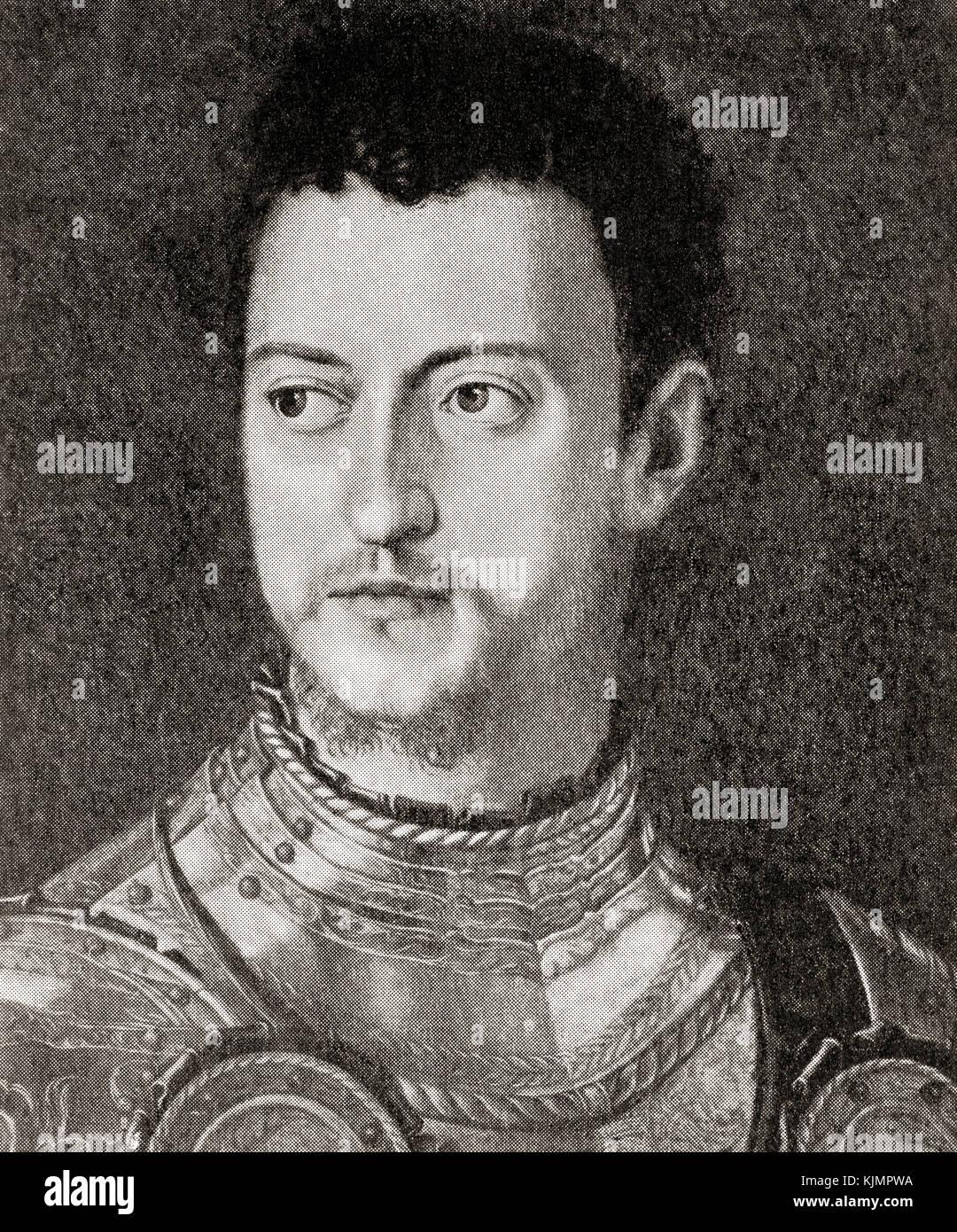 Cosimo di Giovanni de' Medici called 'the Elder', 1389 – 1464.  Italian banker and politician.  From - Stock Image