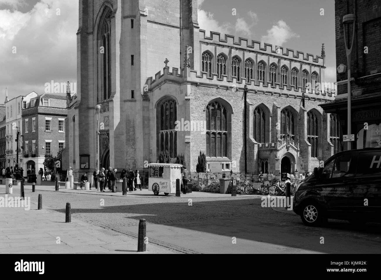 Great St Mary's Church on King's Parade Cambridge - Stock Image