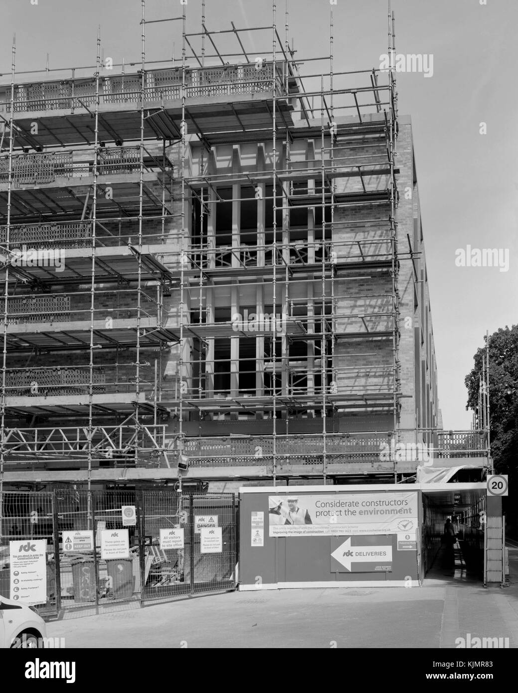 Judge Business School construction project on the Old Addenbrooke's Site, Cambridge - Stock Image
