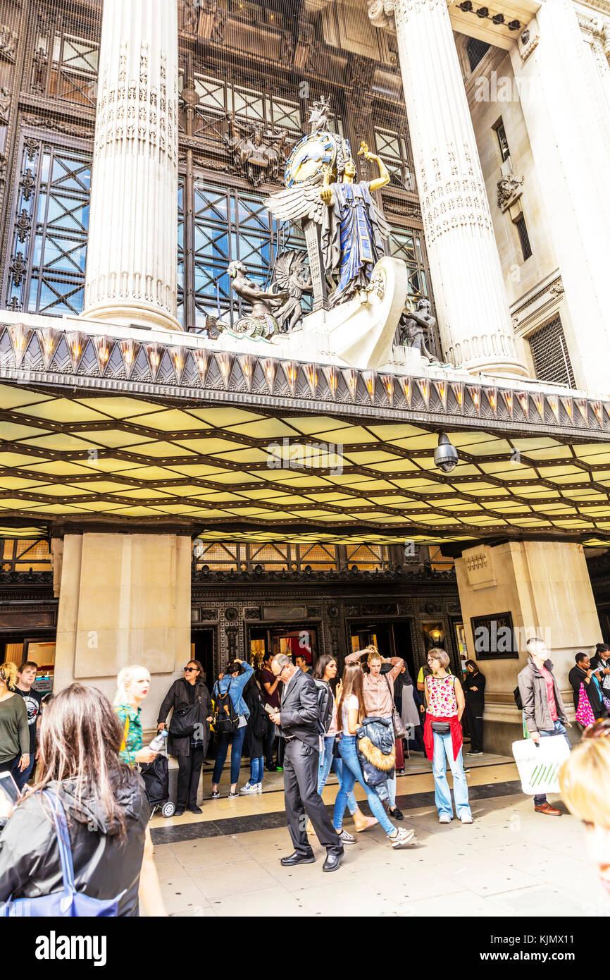 Selfridge & Co London Store, Selfridges Department Store, Oxford Street, London, UK, Selfridges Store Oxford - Stock Image