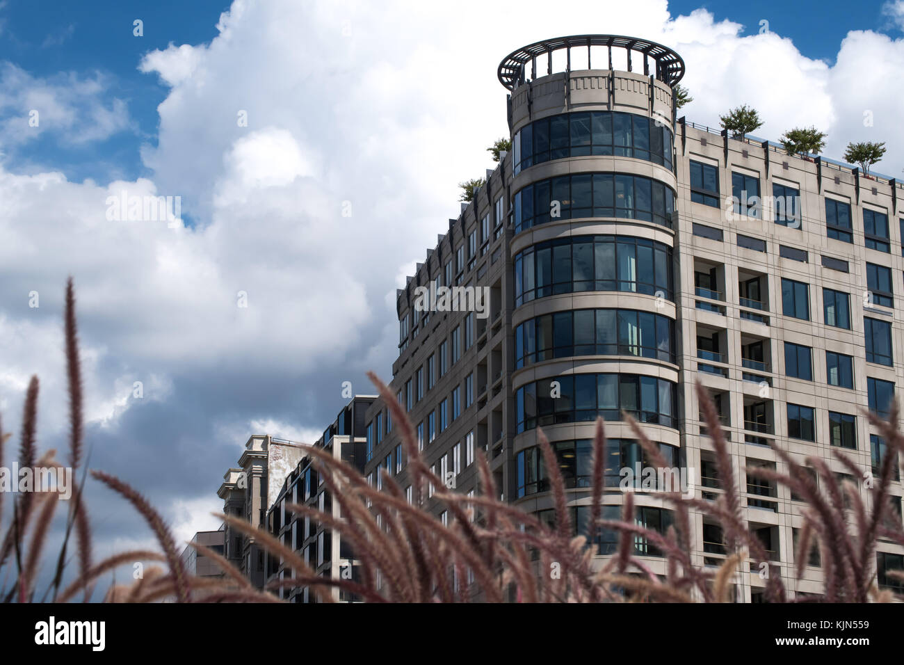 Professional Modern Building Washington DC Stock Photo