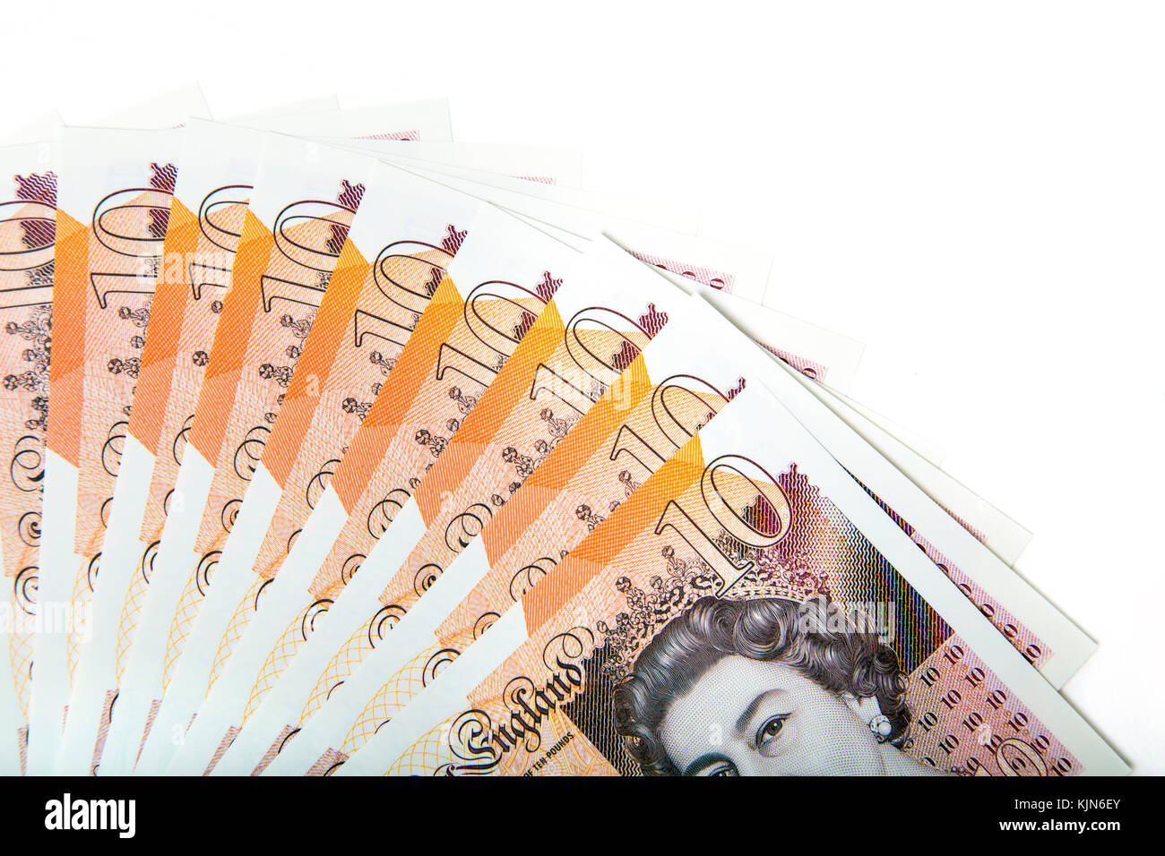 New polymer £10 pound notes Stock Photo