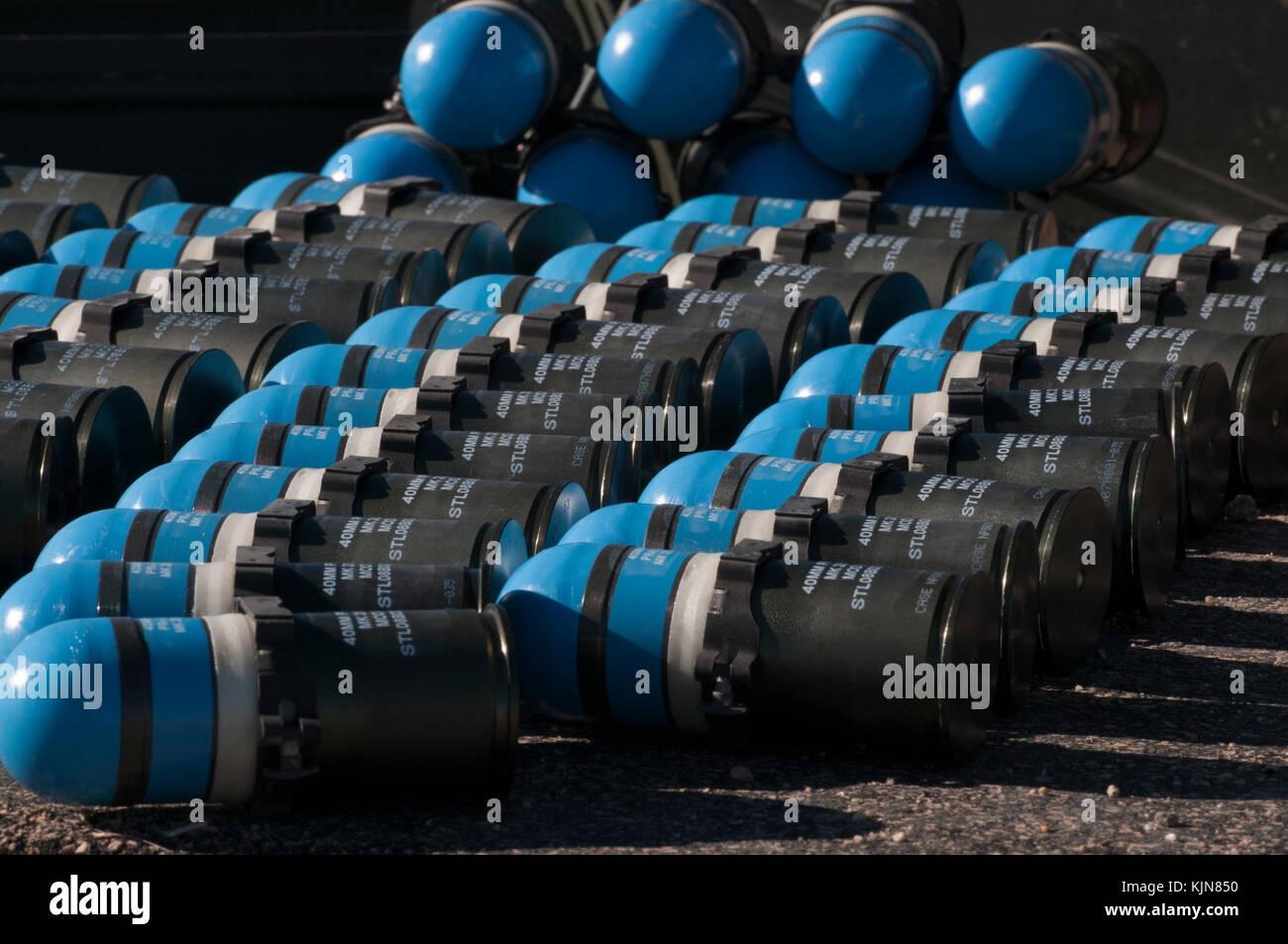 Mark 19 grenades - Stock Image
