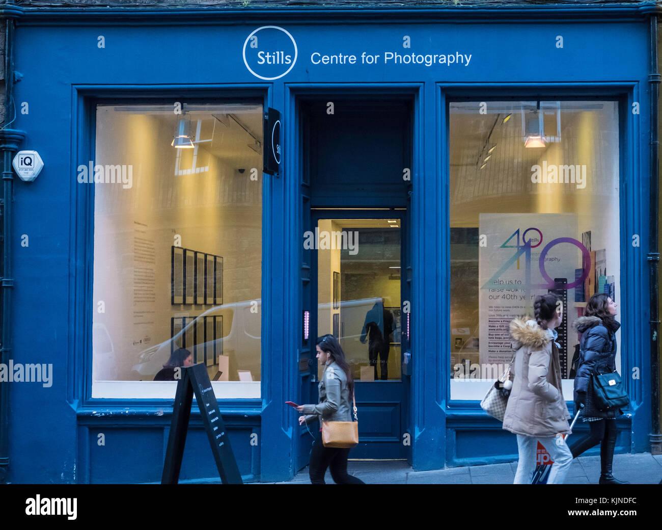 Exterior of Stills Centre for Photography on Cockburn Street in Edinburgh Old Town, Scotland, united Kingdom - Stock Image