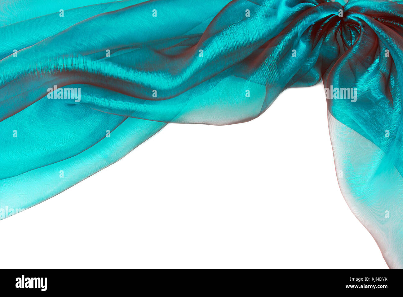 organza fabric texture border frame background - Stock Image