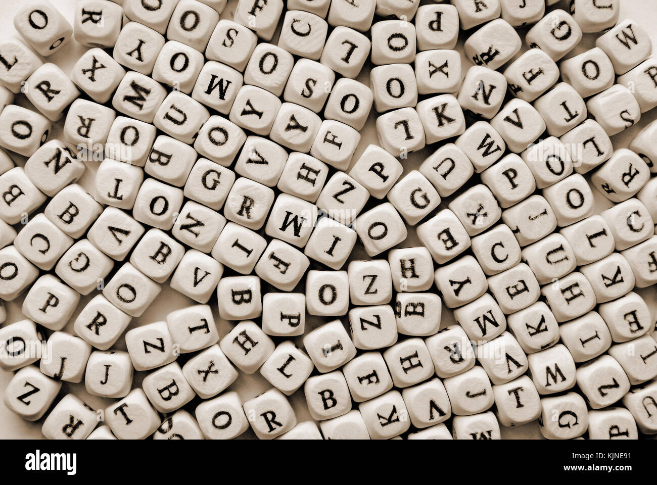 various letters background - Stock Image