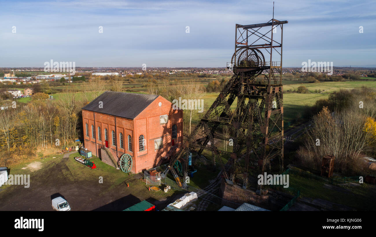 Astley Green Colliery Museum Coal Mine in Astley, Greater Manchester, England, UK - Stock Image