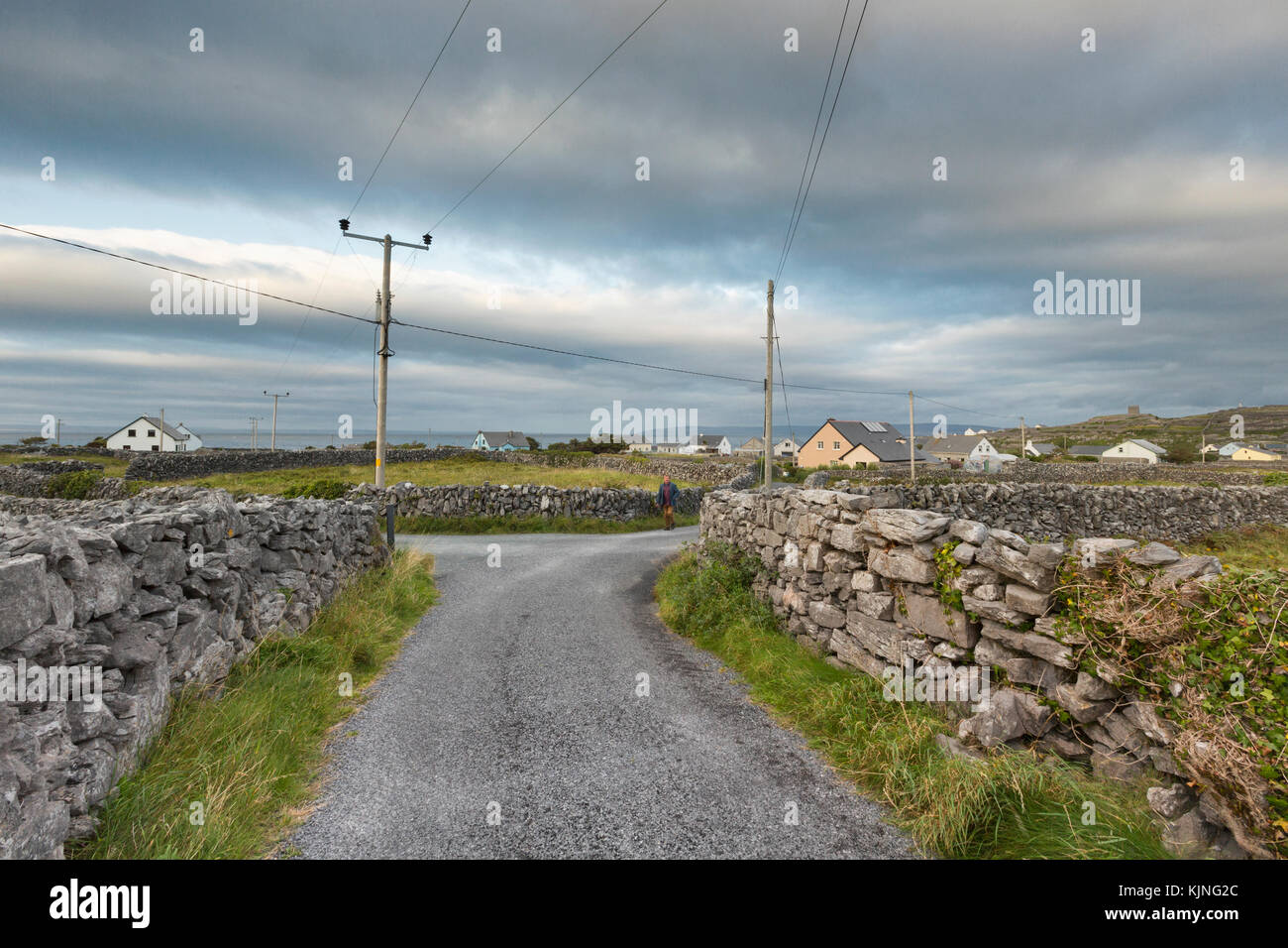 Scenic Landscape of Inis Oírr (Inisheer), one of three islands in the Aran Islands, County Galway, Ireland. - Stock Image