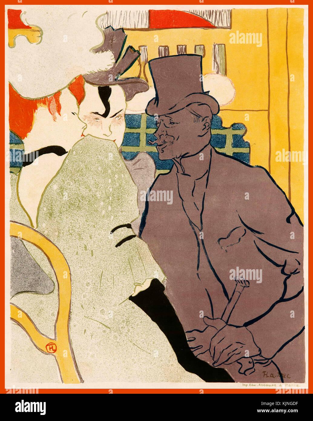 The Englishman at the Moulin Rouge [L'anglais au Moulin Rouge] 1892 Henri de TOULOUSE-LAUTREC France 1864 – 1901 - Stock Image