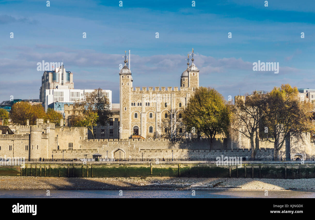 Panorama of Tower of London, UK - Stock Image