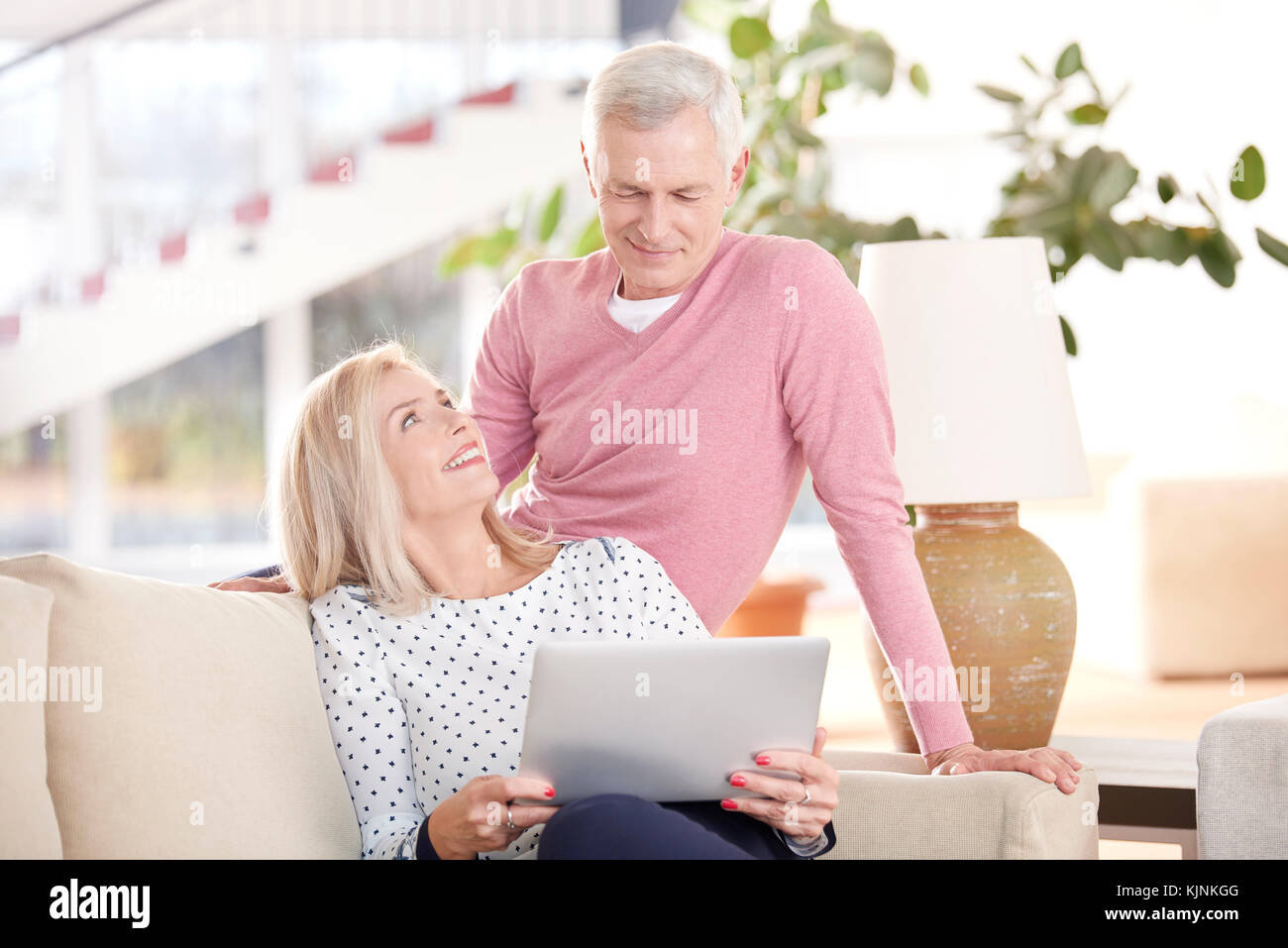 shot of a beautiful elderly woman and senior man sitting