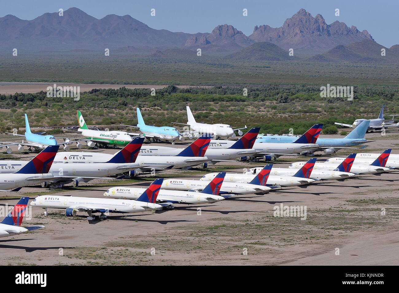BOEING AIRLINERS STORED IN ARIZONA DESERT - Stock Image