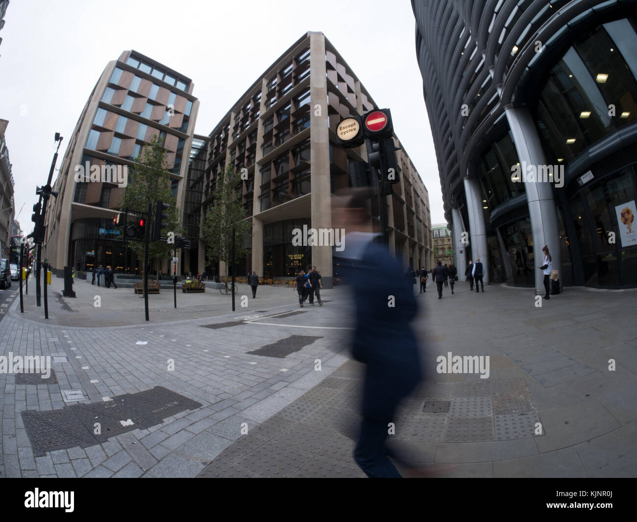 new Bloomberg London building headquarters London, built in 2017 - Stock Image