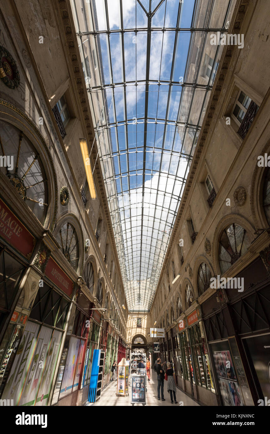 Glass roof in the Galerie bordelaise Arcade  in Bordeaux, France - Stock Image